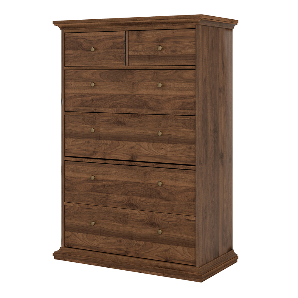 Chest of 6 Drawers in Walnut