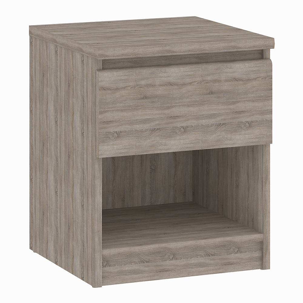 Bedside - 1 Drawer 1 Shelf in Truffle Oak