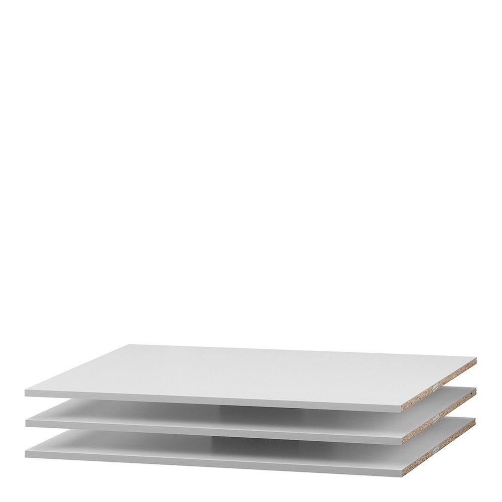 Phillipe Set of 3 Shelves - Narrow (for 120cm wardrobe) in White