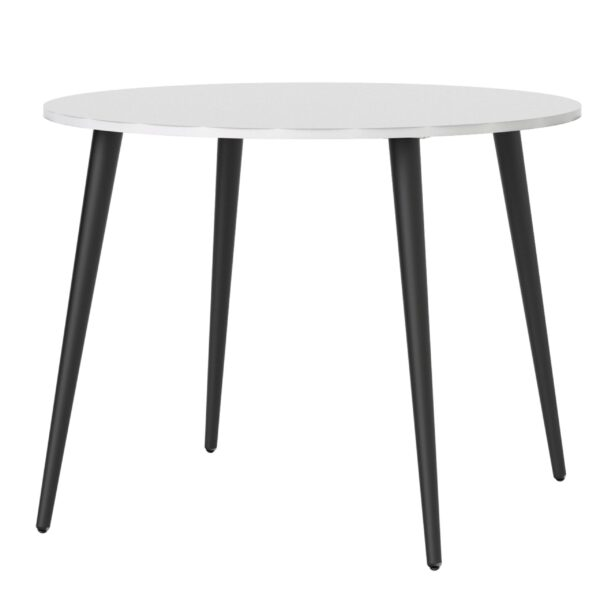 Solo Dining Table - Small (100cm) in White and Black Matt