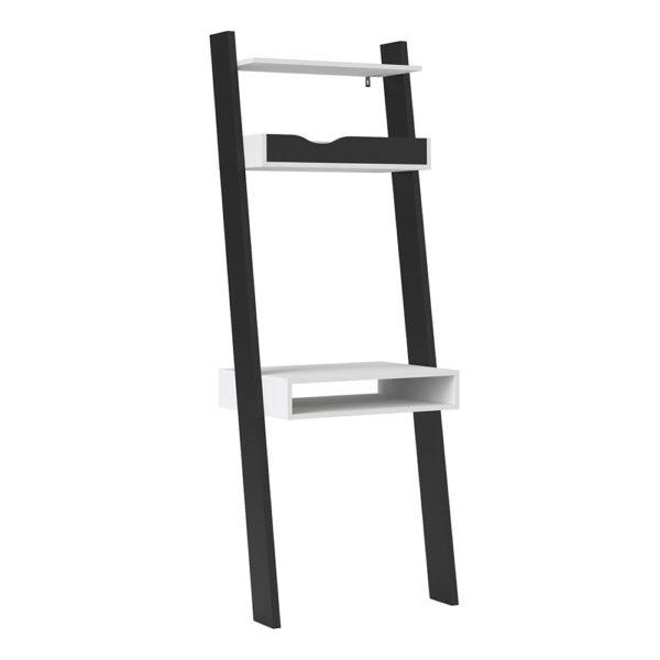 Solo Leaning Desk in White and Black Matt