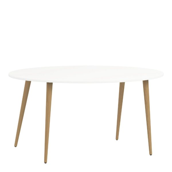 Solo Dining Table - Large (160cm) in White and Oak