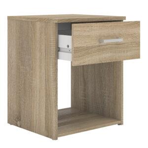 Bedside 1 Drawer in Oak