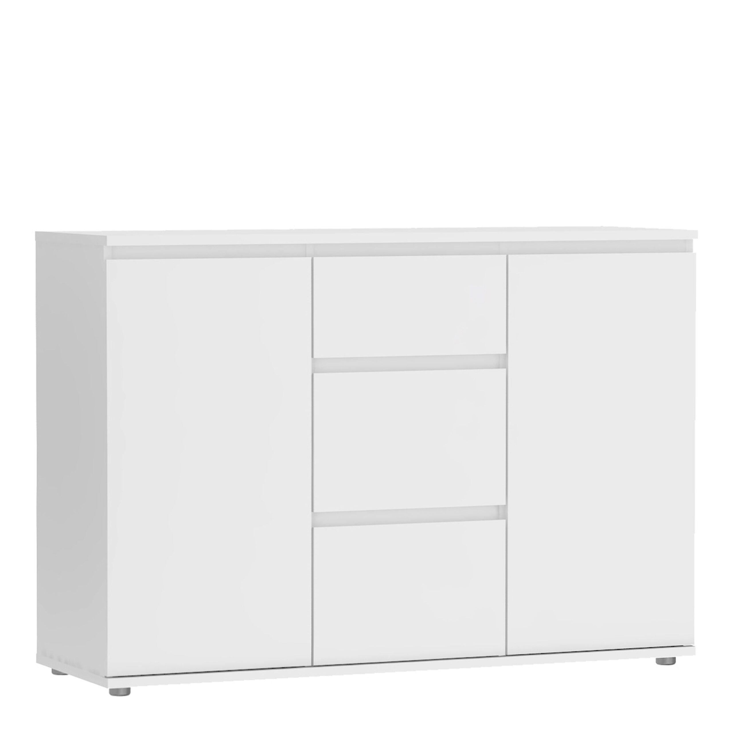 Soyo Sideboard - 3 Drawers 2 Doors in White