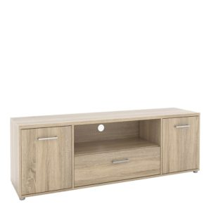 TV Unit 2 Doors 1 Drawer 1 Shelf in Oak