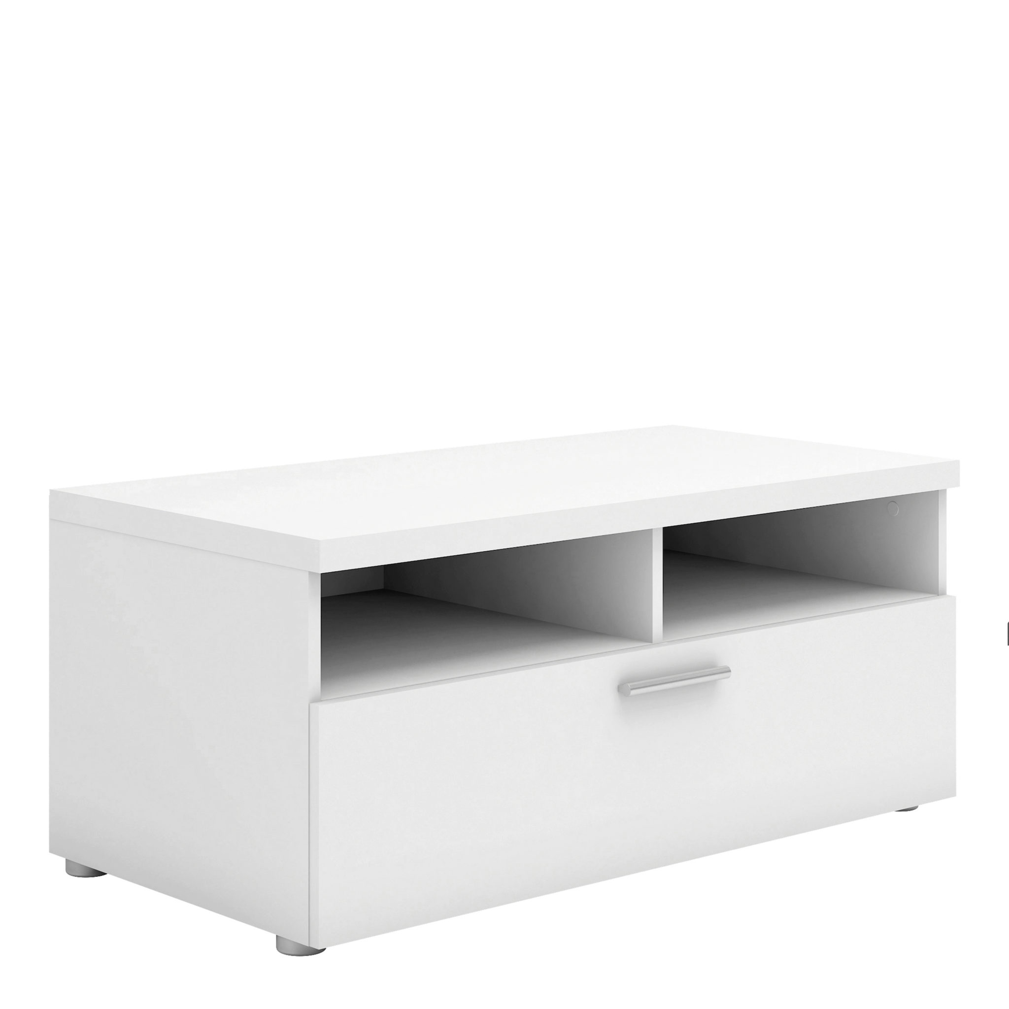 TV Unit 1 Drawer 2 Shelves in White