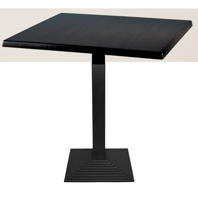 Zamon Square Dining Table With Cast Iron Square Base - Wenge - 80 cm
