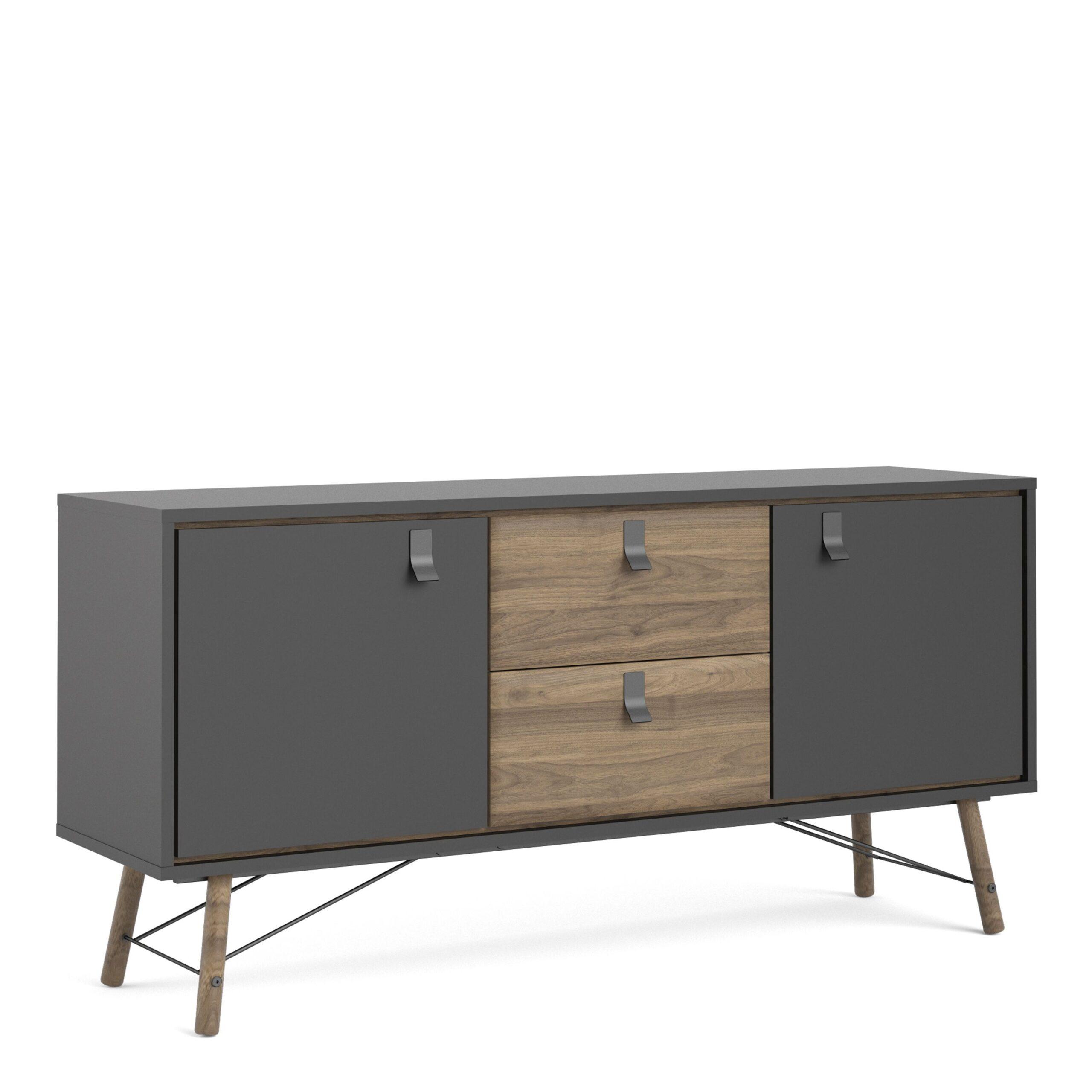 Effy Black Sideboard 2 doors + 2 drawers