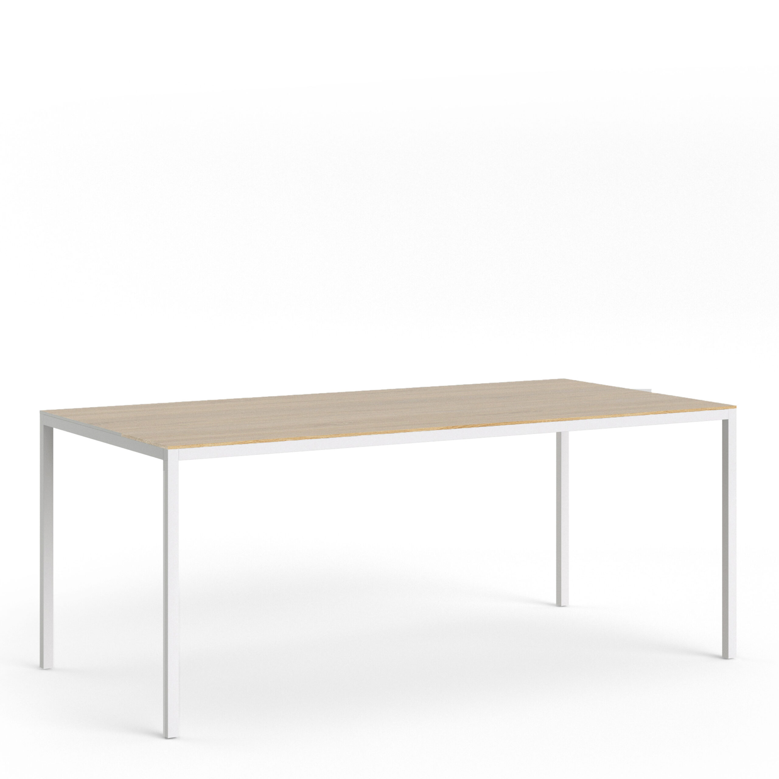 Folks Dining Table 180cm Oak Table Top with White Legs