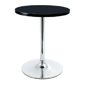 Coltine Small Round Bistro Black Kitchen Dining Table