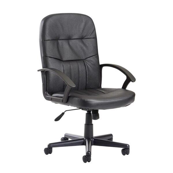 Cava Leather Swivel Office Chair
