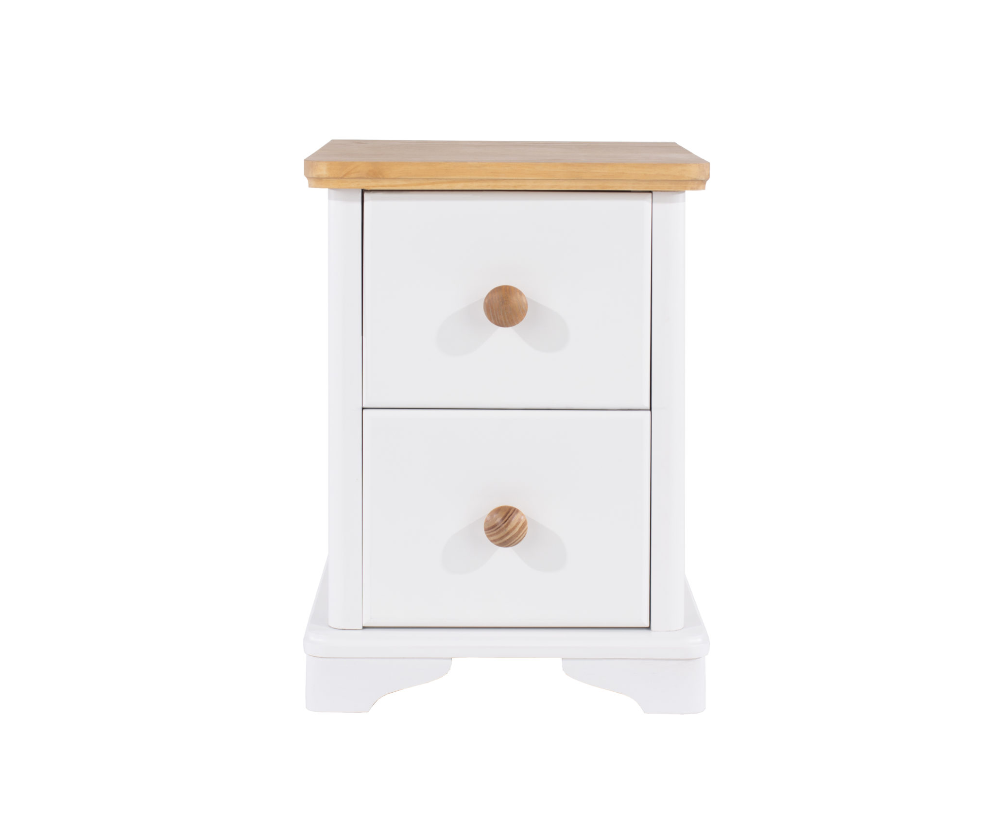 Fully Assembled 2 drawer compact bedside cabinet