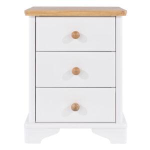 Fully Assembled 3 drawer bedside cabinet