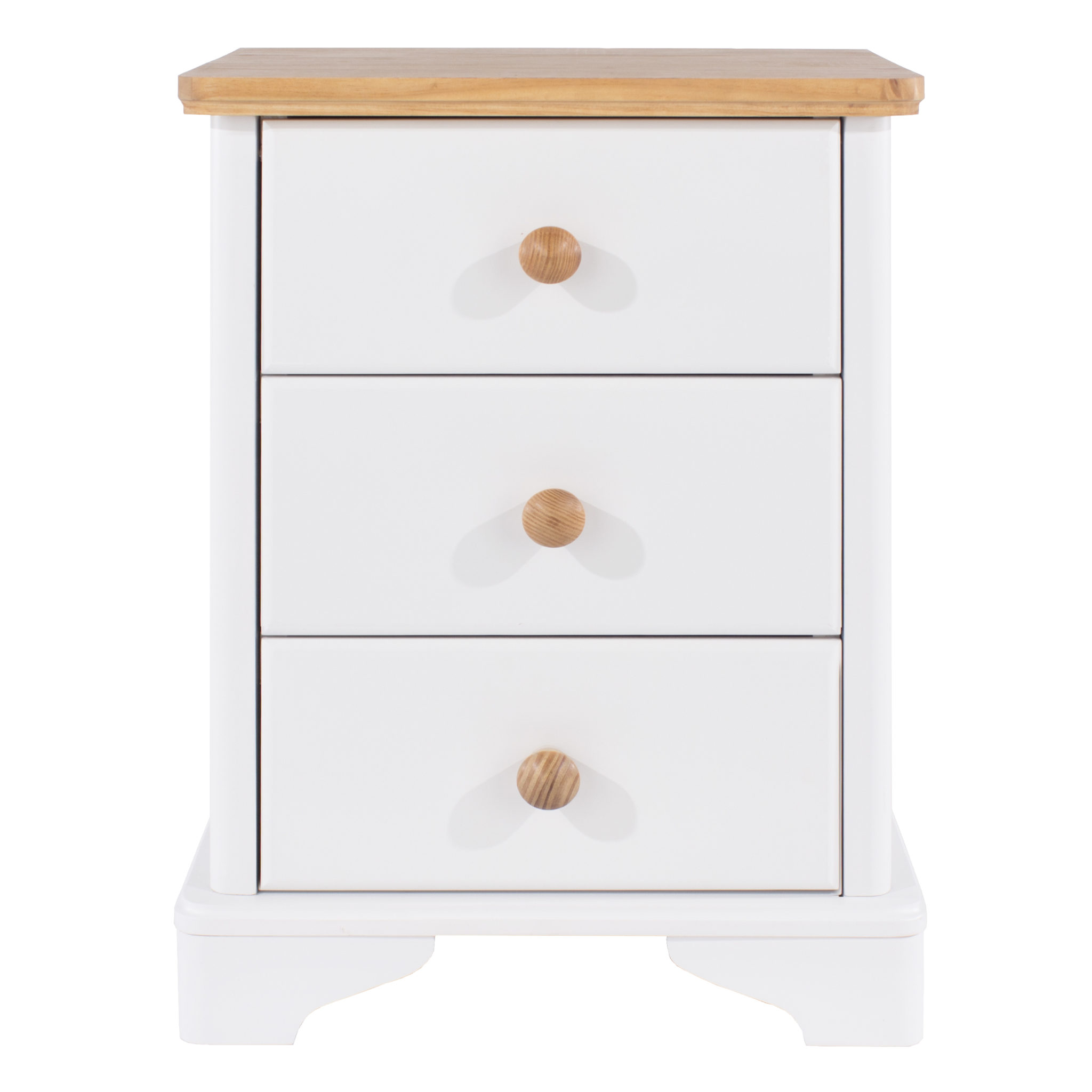 Fully Assembled 3 drawer bedside cabinet