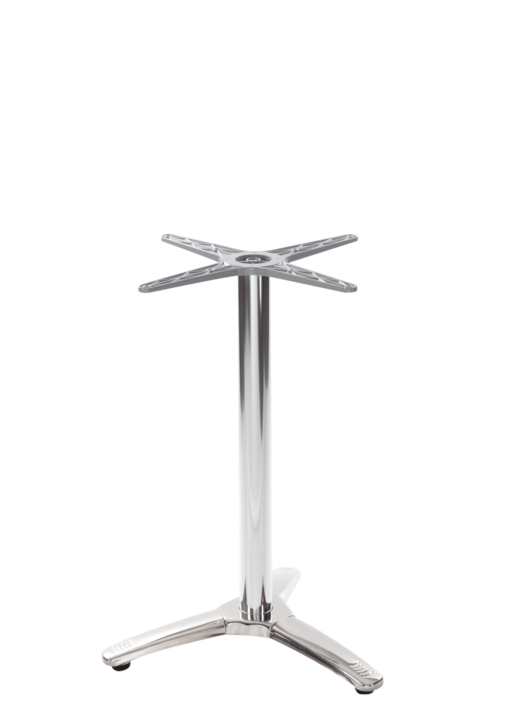 Aluminium all weather table base - 3 leg - Dining Height - 730 mm [Max table top size for this base 600mm ROUND]