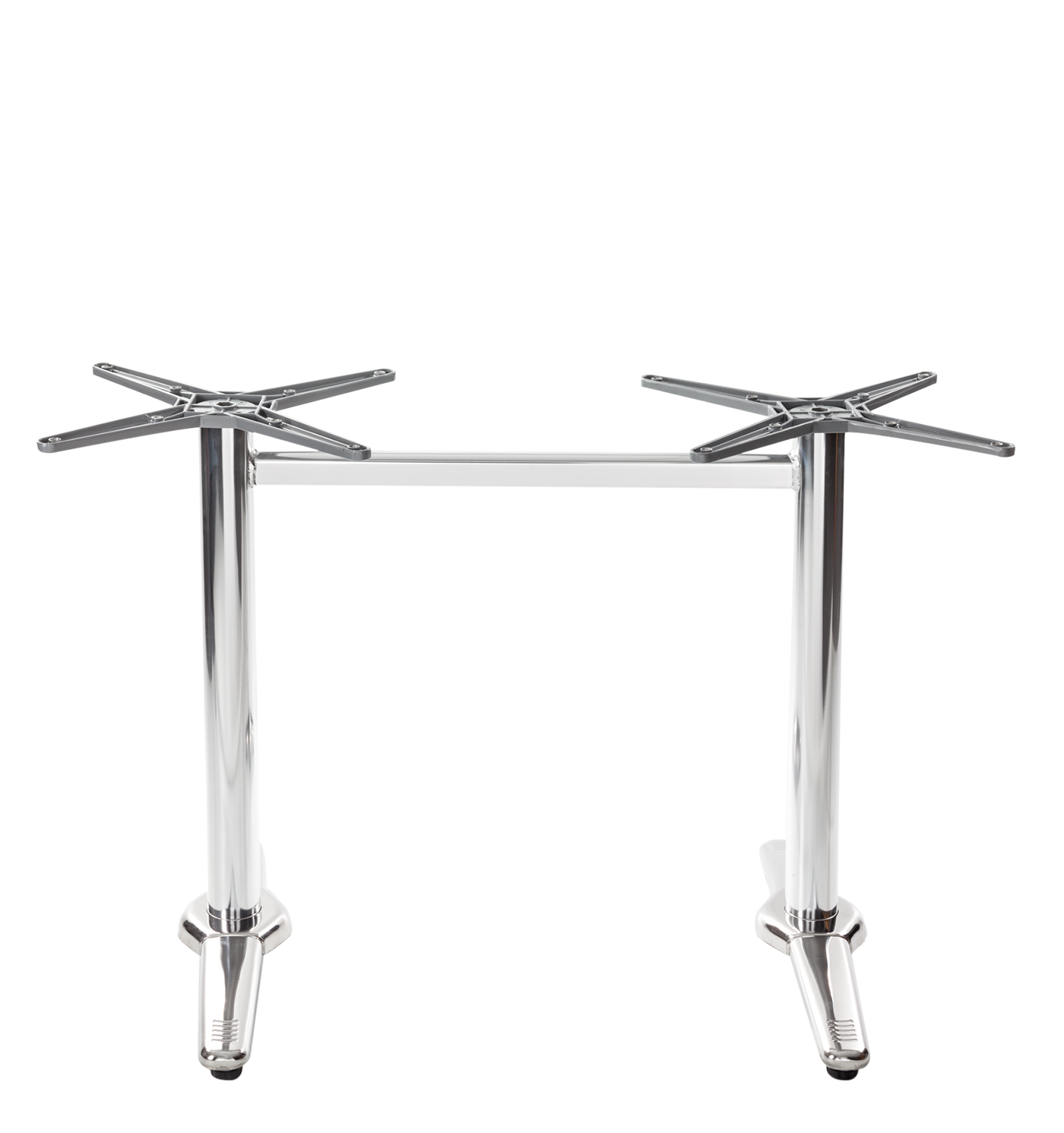 Aluminium all weather table base - Twin - Dining Height - 730 mm NOT SUITABLE FOR TOPS UNDER 1100MM LONG