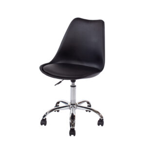 Penny home studio chair with upholstered seat in black
