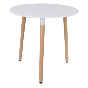 Penny round table with wooden legs