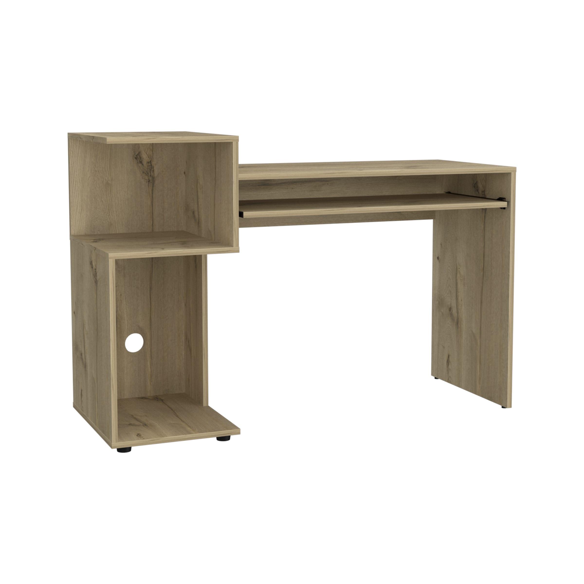 Brooks desk with low shelving unit (left side)