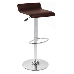 Baconey Adjustable Padded Breakfast Bar Stool - Brown