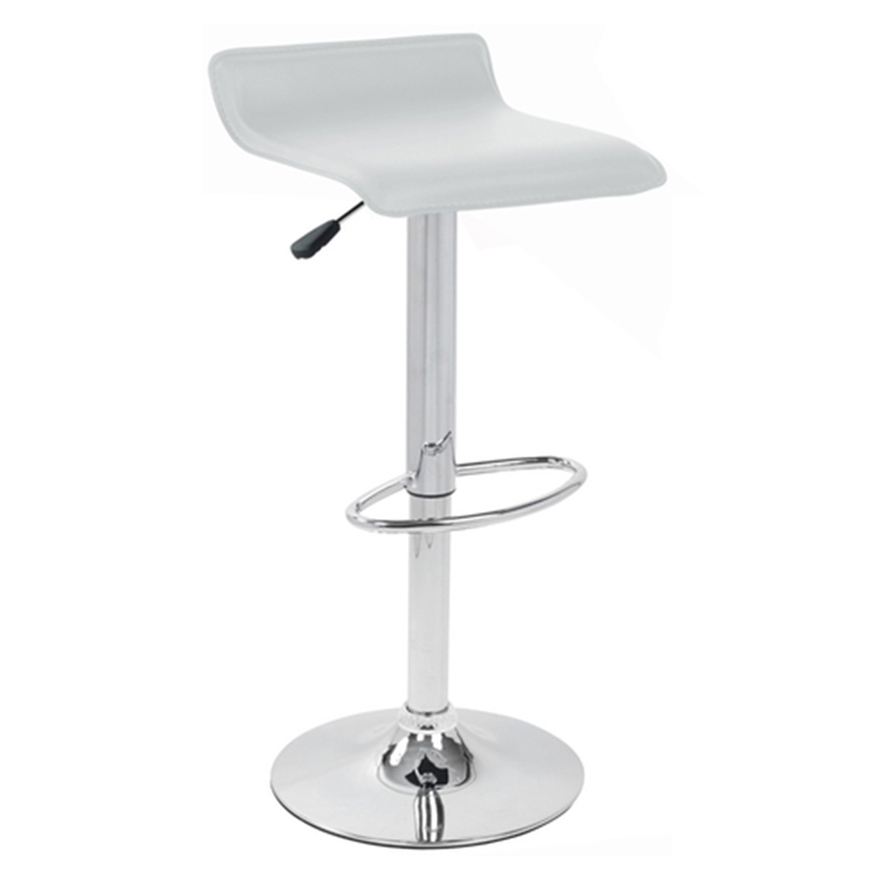 Baconey Adjustable Padded Breakfast Bar Stool - White