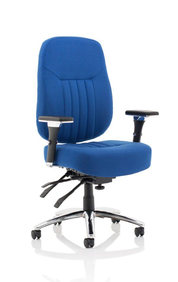 Barce Fabric Seat Swivel Adjustable Office Chair - Blue