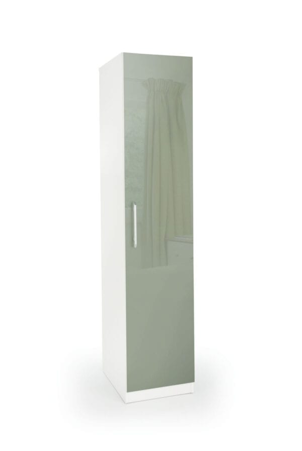 Coral Gloss Quality Bedroom Single Wardrobe - Variety Of Colours