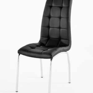 Geo Dining Kitchen High Back Padded Chair Black Or White - Black
