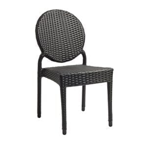 Blakely Stacking Side Chair - Black Weave