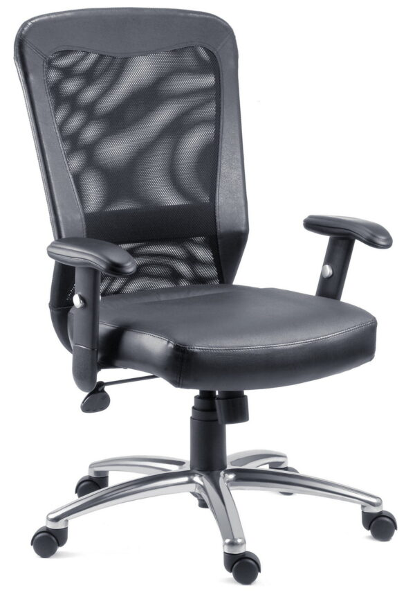 Squear Office Chair Executive Mesh Back Chair Leather Seat