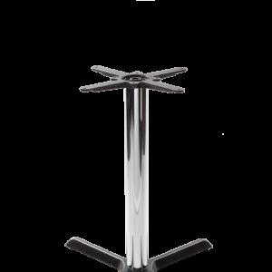 Black cruciform table base - Medium - Chrome dining height - 730 mm