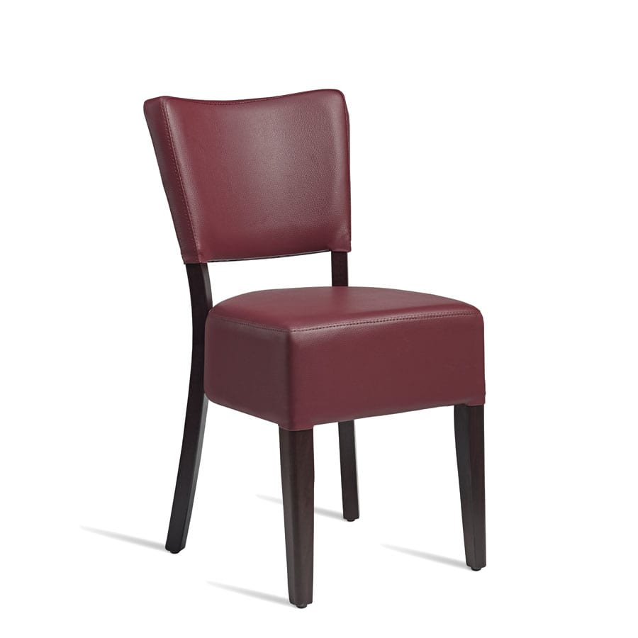 Bugel Side Chair - Wenge - Red