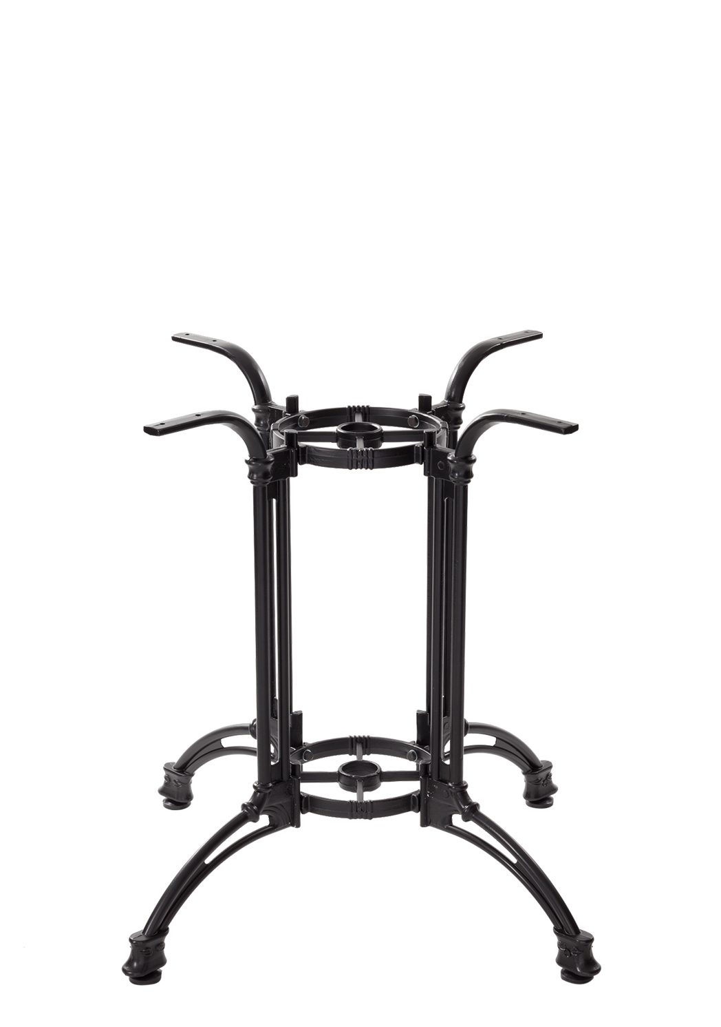 Black Continental Style Table Base - Grande - 690 mm