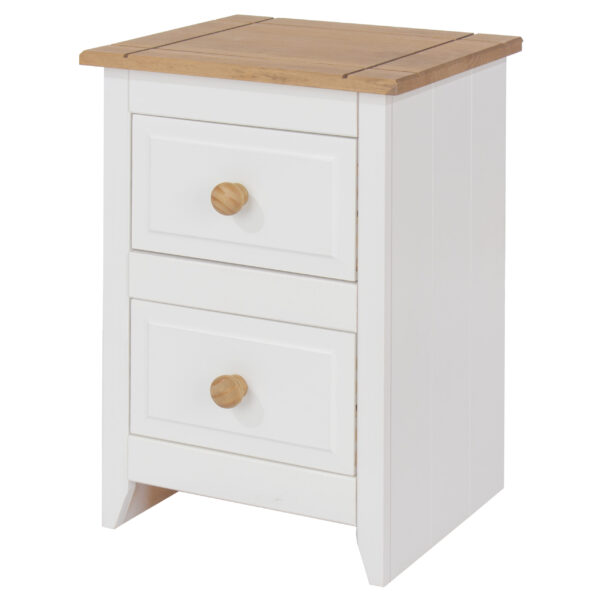 Steak 2 drawer petite bedside cabinet