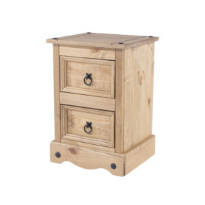 Cortan 2 drawer petite bedside cabinet