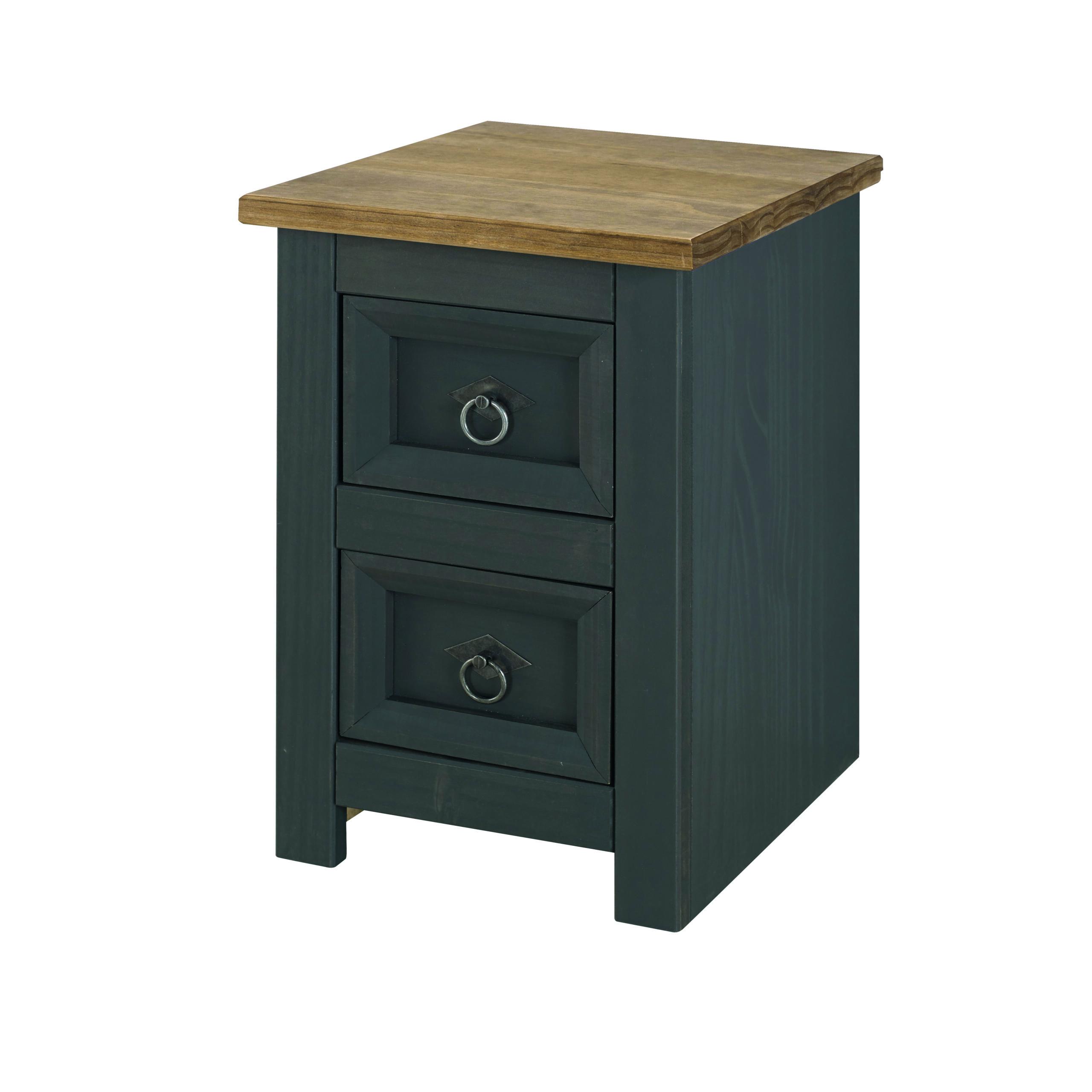 Caladonea Carbon 2 drawer petite bedside cabinet