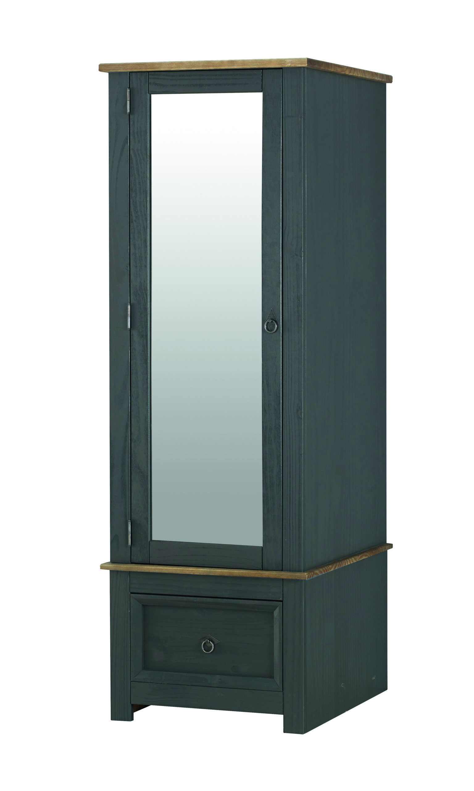 Caladonea Carbon armoire mirrored door