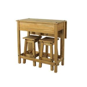 Cortan breakfast drop leaf table & 2 stools SET