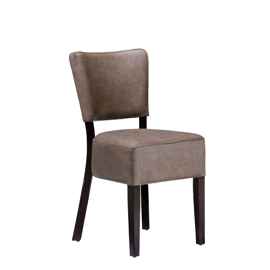 Bugel Side Chair - Distressed Bark Lascari Faux Leather