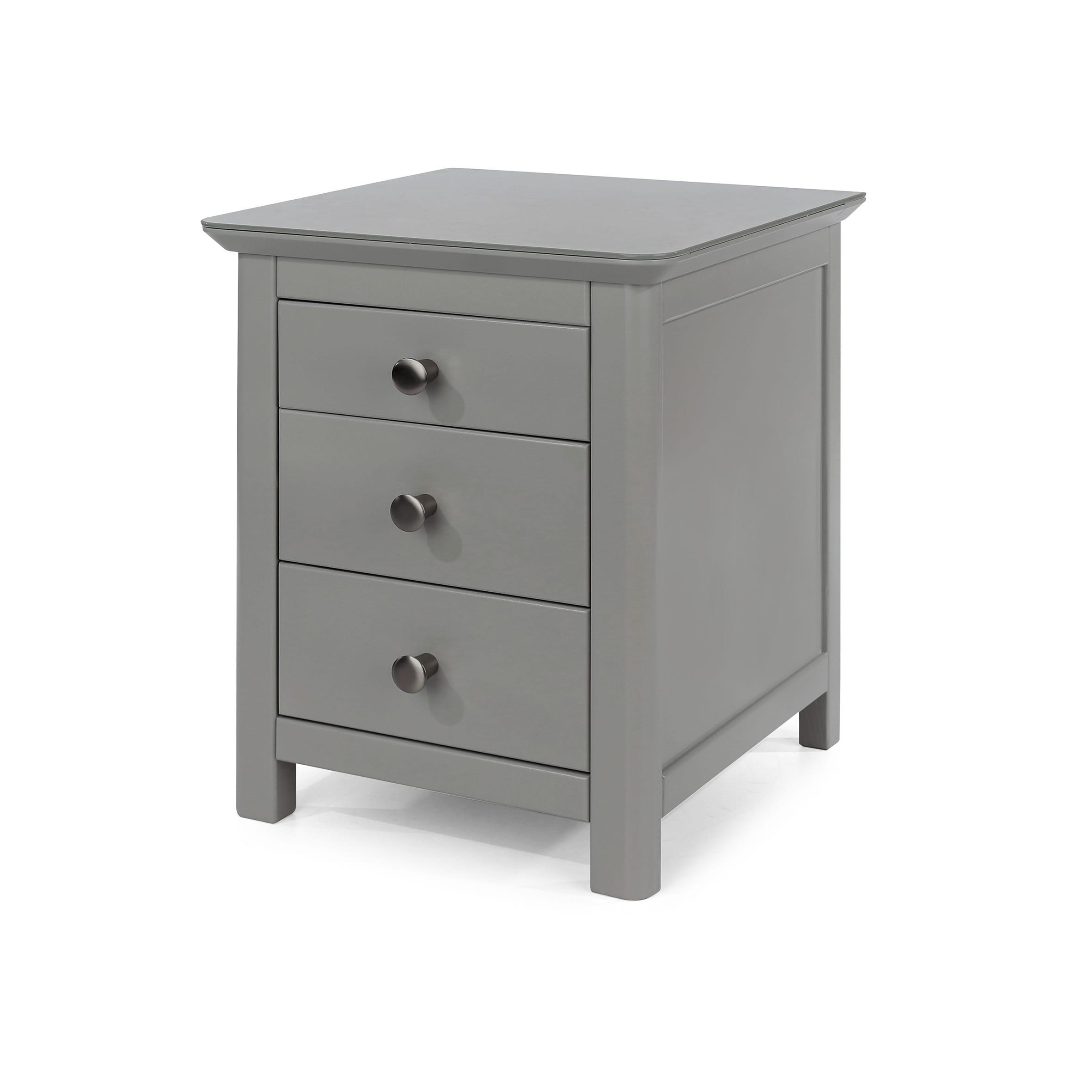 Epsom 3 drawer bedside cabinet