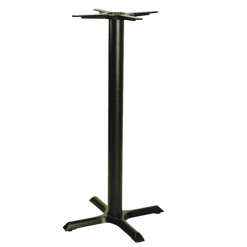 Elliot Cruciform Cast Iron Tall Bar Commercial Table Base - Black