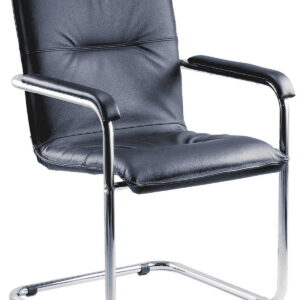 Heris Leather Faced Visitor Office Chair