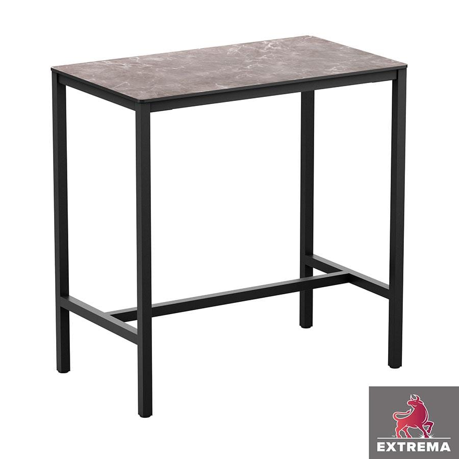 Erman Marble 4 Leg Poseur Table - Black - 119x69cm