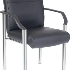 Glasgow Visitor Office Reception Chair Leather Faced