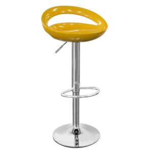 Half Moon Retro Adjustable Breakfast Bar Stool - Yellow