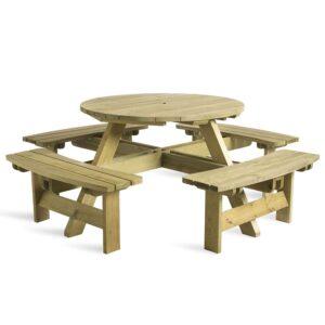 Karp Round Picnic Table - 8 Seater
