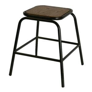 Pair of Calerio Industrial Fixed Height Bar Stools