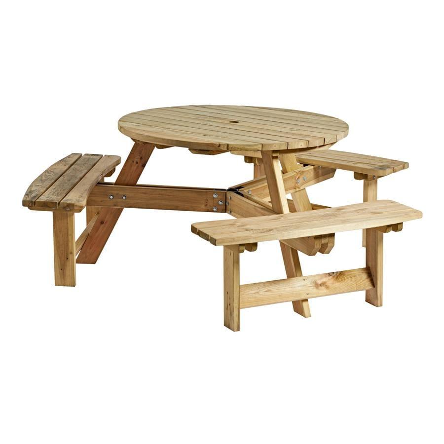 Karp Round 6 Seater Picnic Table