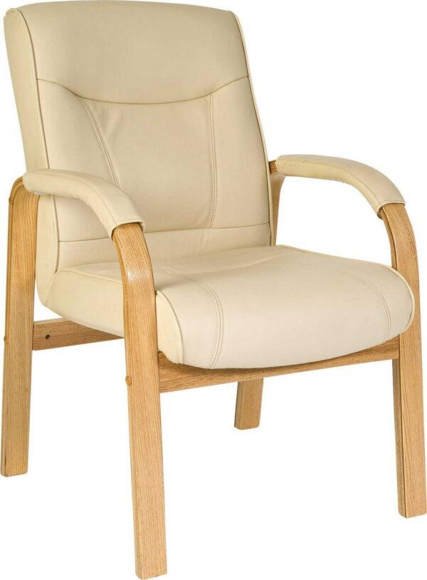 Lirus Visitor/Office Padded Cream Chair