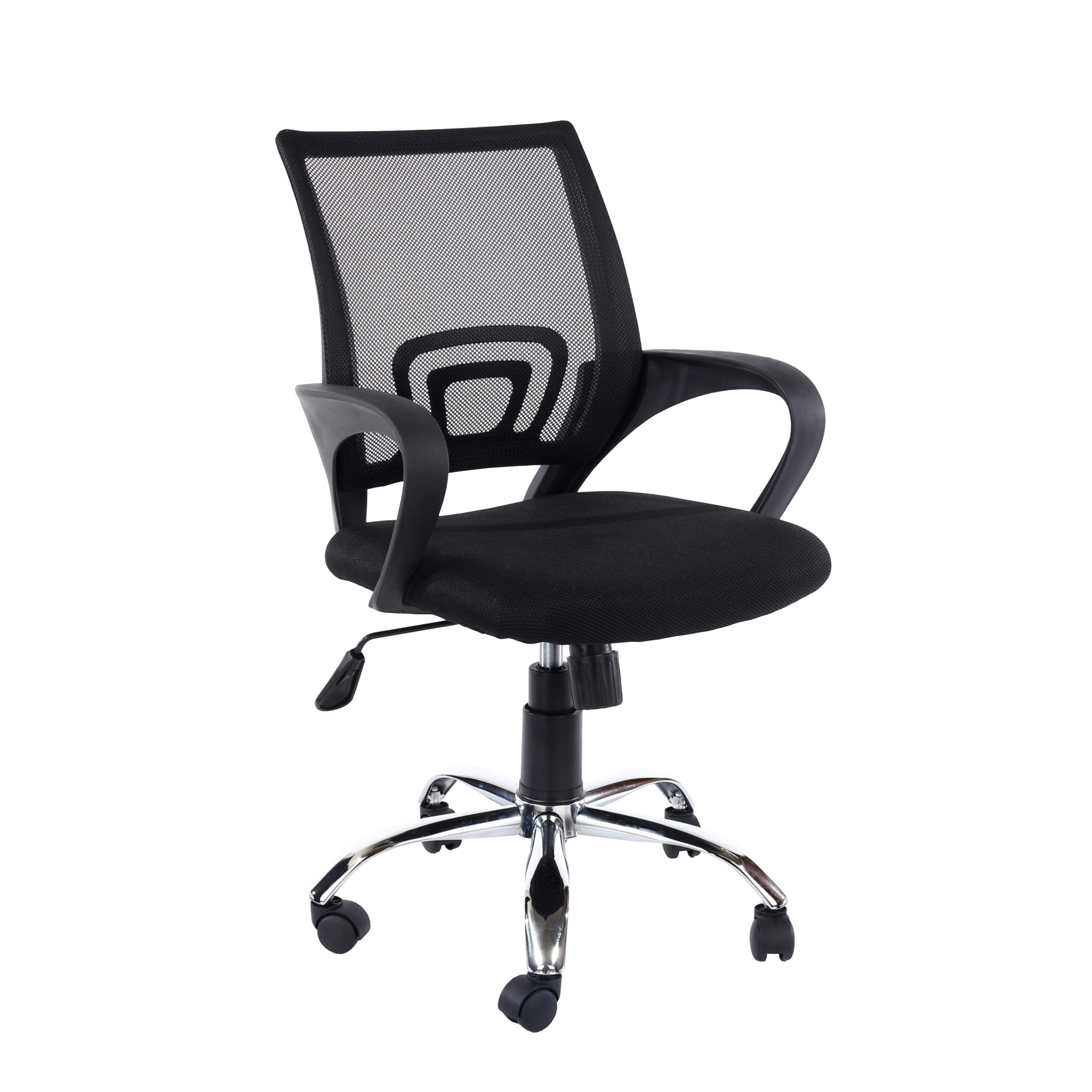study chair in black mesh back